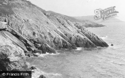 Caswell Bay, From The Cliffs c.1955