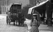 Caterham, A Girl, Croydon Road 1894