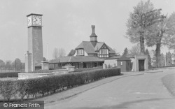 Caterham, Queens Park, Clock Tower And Pavilion 1957
