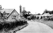 Catsfield, Thatched Cottage and School c1955