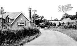 Catsfield, Thatched Cottage And School c.1955