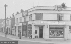 Catterick, Catterick Road, The Corner Shop 1953