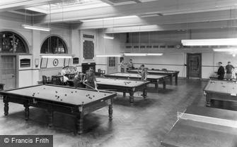 Catterick, the Games Room, Sandes Soldiers Home c1955