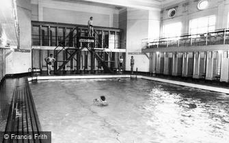 Catterick, the Swimming Baths, Sandes Soldiers Home c1960