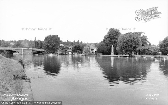 Photo of Caversham, Bridge And River Thames c.1955