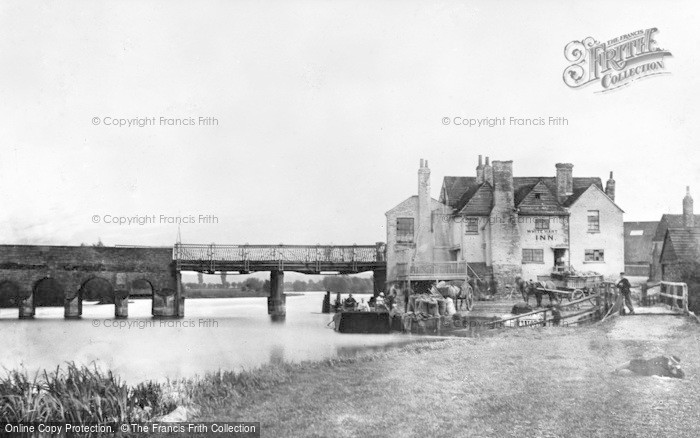 Photo of Caversham, Bridge And White Hart Inn c.1865
