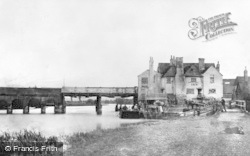 Caversham, Bridge And White Hart Inn c.1865