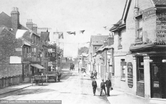 Photo of Caversham, Bridge Street Decorated For Queen Victoria's Golden Jubilee 1887