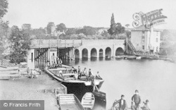 Caversham, Caversham Bridge c.1865