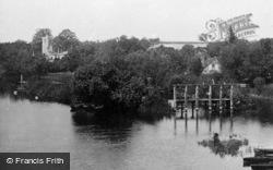 Caversham, Church From River Thames c.1890