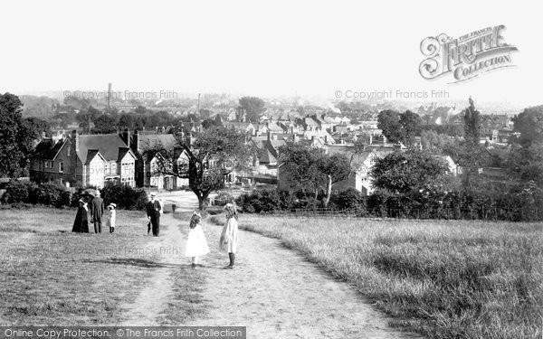 Photo of Caversham, From Caversham Heights 1908