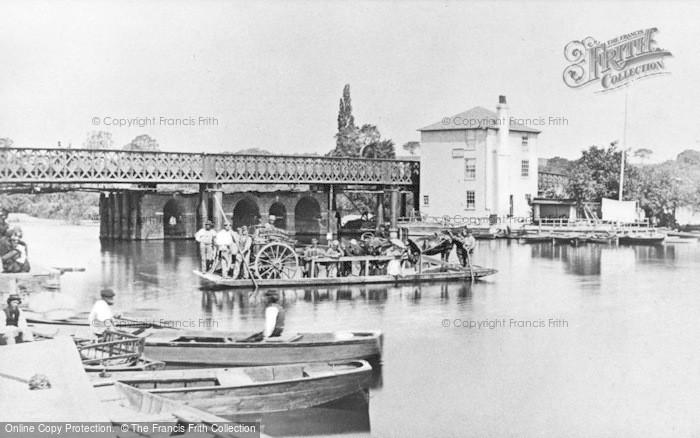 Photo of Caversham, Rebuilding Caversham Bridge 1869