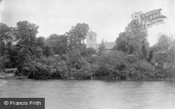 Caversham, St Peter's Church And The River c.1880