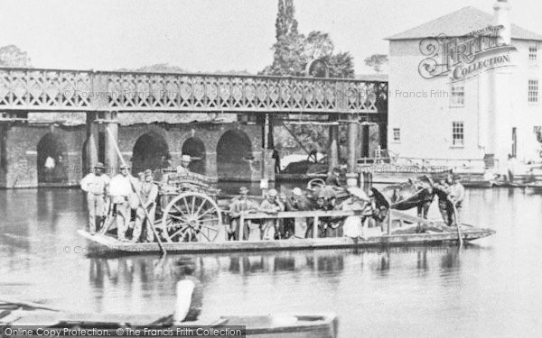 Photo of Caversham, The Ferry At Caversham Bridge 1869