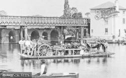 Caversham, The Ferry At Caversham Bridge 1869