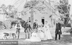 Caversham, The Priory Garden c.1860