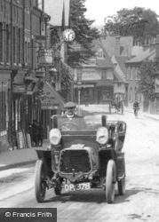 Caversham, Vintage Car In Bridge Street 1908