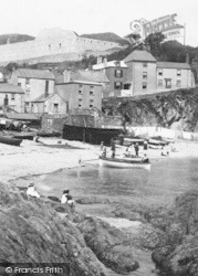 Cawsand, People On The Beach 1904