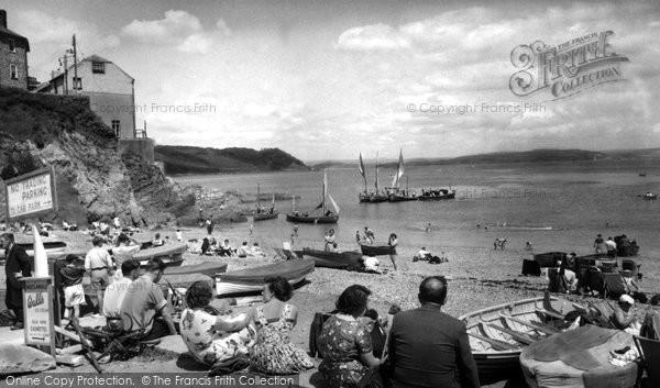 Photo of Cawsand, The Beach c.1955