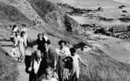 Cawsand, Whitesands Bay, Climbing The Path c.1955
