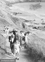 Cawsand, Whitesands Bay, Climbing The Path c.1955