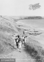 Cawsand, Whitesands Bay, Path To The Beach c.1955