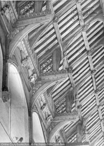 Photo of Cawston, Church Of St Agnes, The Hammer Beam Roof c