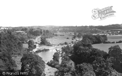 Cefn Mawr, The River Dee From Aqueduct c.1952