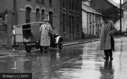 Cefneithen, A Delivery Van In The Village 1937
