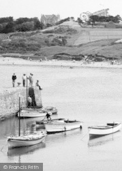 Cemaes Bay, Boats In The Harbour c.1960