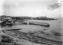 Cemaes Bay, Breakwater And Penryhn Point c.1900