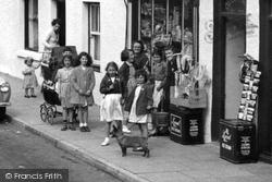 Cemaes Bay, Children In The High Street c.1955