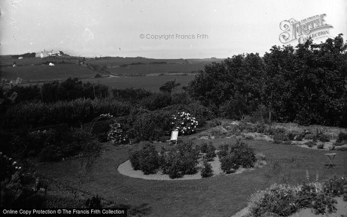 Photo of Cemaes Bay, Gadlys Hotel, The Garden c.1936