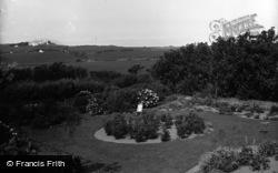Cemaes Bay, Gadlys Hotel, The Garden c.1936