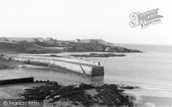 Cemaes Bay, Harbour Entrance c.1936