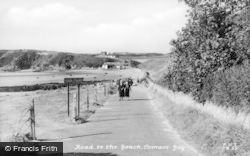 Cemaes Bay, Road To The Beach c.1935