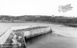 Cemaes Bay, The Breakwater c.1936