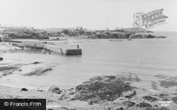 Cemaes Bay, The Harbour c.1955