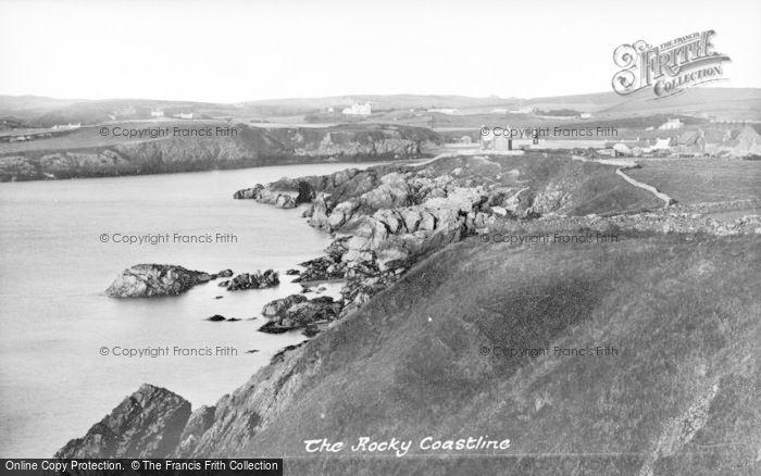 Photo of Cemaes Bay, The Rocky Coastline c.1935