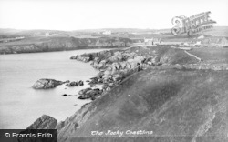 Cemaes Bay, The Rocky Coastline c.1935