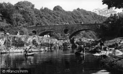 Cenarth, Coracle Fishing c.1955