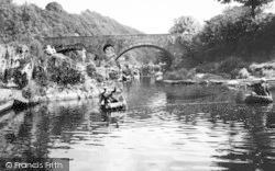 Cenarth, Coracle Fishing c.1960