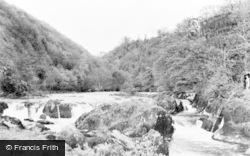 Cenarth, Salmon Falls c.1955