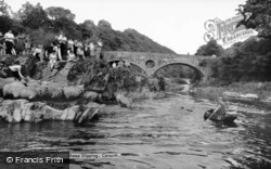 Sheep Dipping And Coracles c.1960, Cenarth