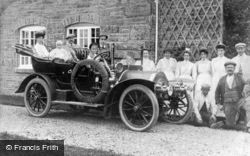 Cerrigydrudion, Village, An Early Motor Car 1907