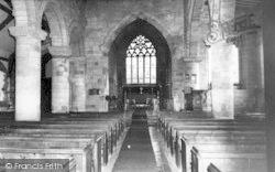 Chaddesley Corbett, St Cassian's Church Interior c.1965