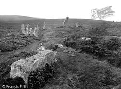A Moorland Path By A Stone Circle 1924, Chagford