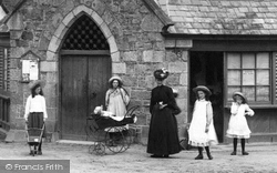 Chagford, Children Outside The Market House 1906