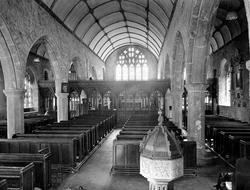 Church Interior 1931, Chagford