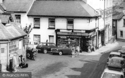 Chagford, 'f.Lacey' Newsagent c.1965